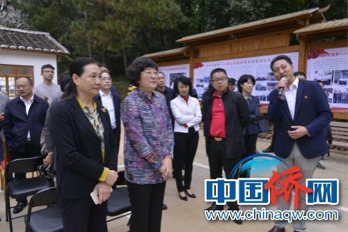 吕彩霞副主席一行在廖俊波先进事迹教学点考察学习。(致公党供图)