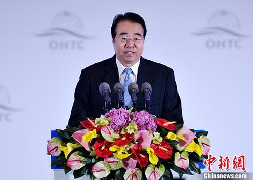 资料图:中央统战部副部长、国务院侨务办公室主任许又声。 中新社记者 刘忠俊 摄