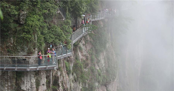 Lingyundu glass trestle opens to tourists in Ningbo, east China