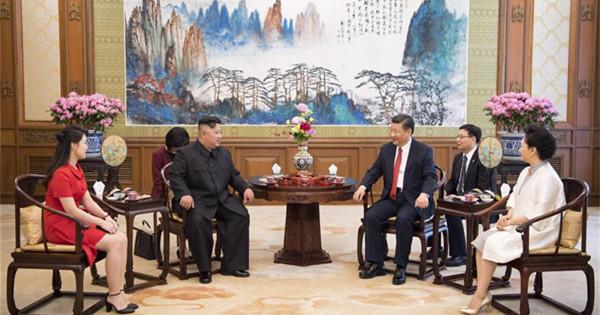 Xi Jinping meets Kim Jong Un in Beijing