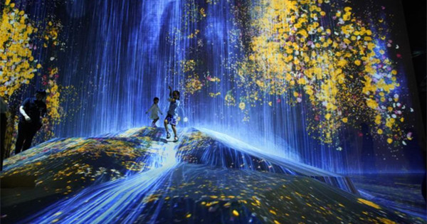 Digital art group plants forest of light and color on Tokyo Bay