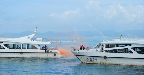 Emergency drill on securing marine transportation held in Sanya