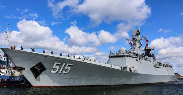 Chinese frigate