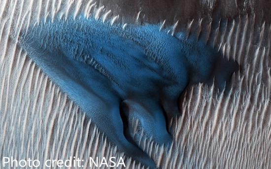 NASA discovers mysterious blue dune on Mars