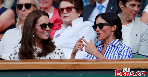 Princess Kate, Duchess Meghan watch match at Wimbledon