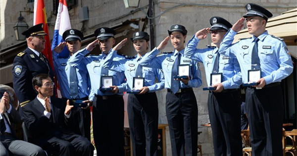 Joint police patrol between China, Croatia launched in Dubrovnik