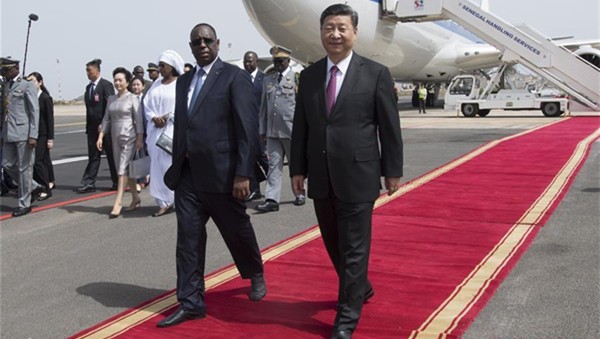 Xi arrives in Senegal for state visit