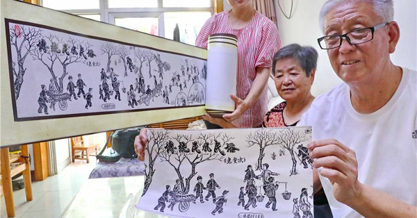 Senior creates 100-meter history painting