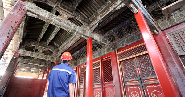 Hall of Mental Cultivation in Forbidden City starts renovation