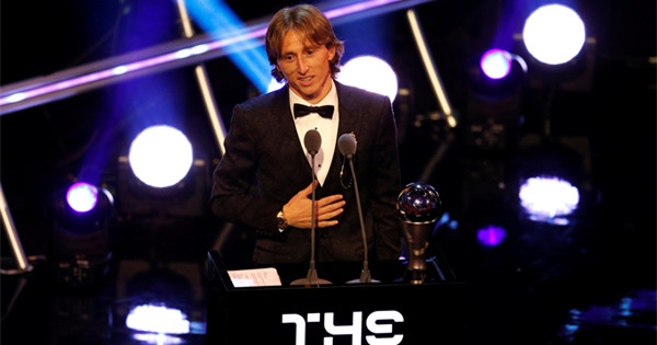 Luka Modric named Fifa men��s player of the year