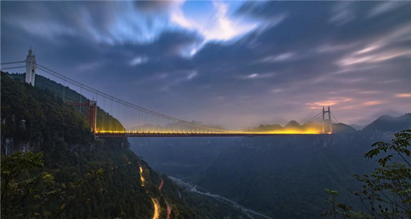 Amazing view of Aizhai Bridge in Hunan