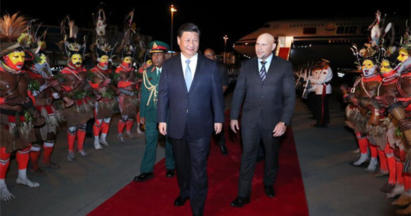 President Xi arrives in PNG for state visit, APEC meeting