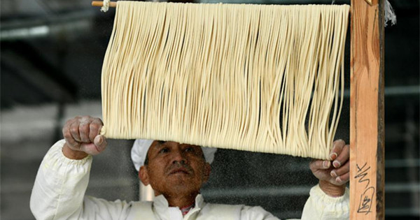 Fine dried noodle produced in Shijiazhuang
