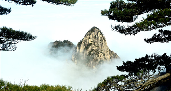 Mount Huangshan in winter beauty