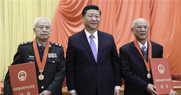 Xi honors two academicians with China