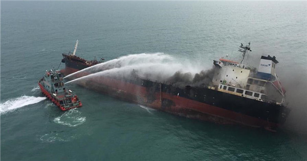 1 killed, 7 injured, 2 missing in oil tanker blaze off Hong Kong