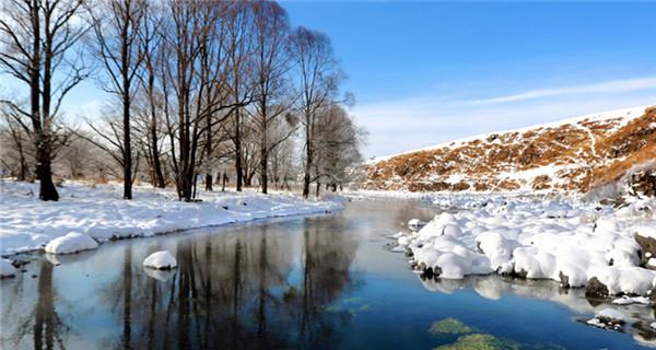 Unfrozen River in Inner Mongolia