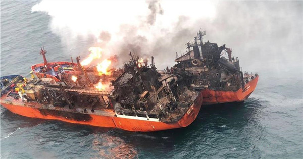 10 killed in Kerch Strait ship fire