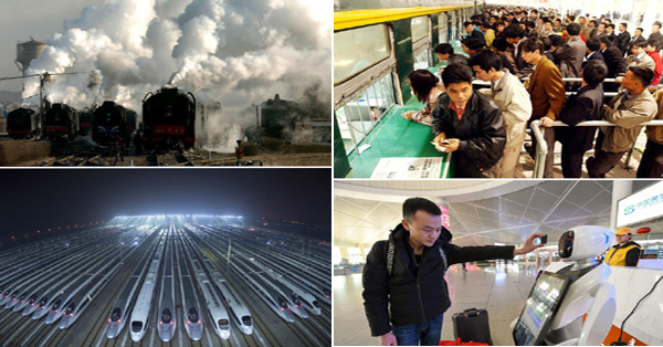 Moving China: Spring Festival train journey now and then