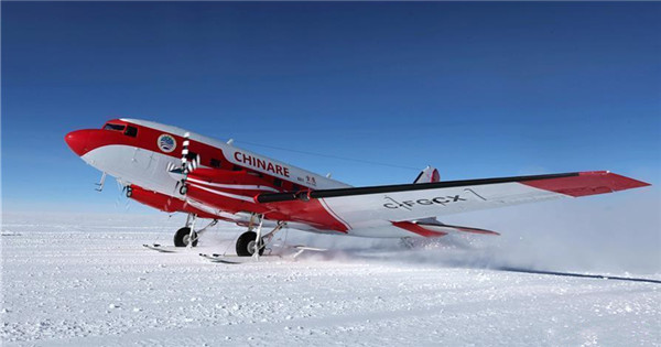 China's fixed-wing aircraft completes aerial exploration mission in Antarctica