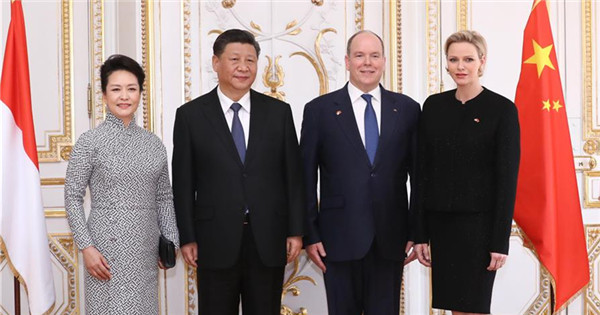 Xi holds talks with Prince Albert II