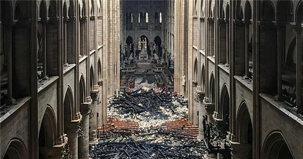Aftermath of Notre Dame Cathedral blaze
