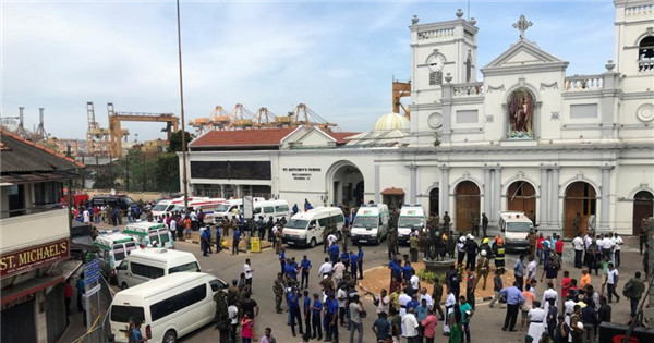 Multiple blasts hit Sri Lankan churches, hotels