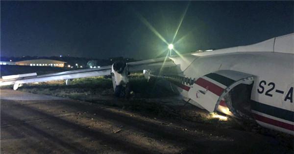 Bangladeshi plane skids off runway at Myanmar