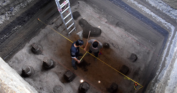 Archaeological pieces found at site of 'Pompey of America'