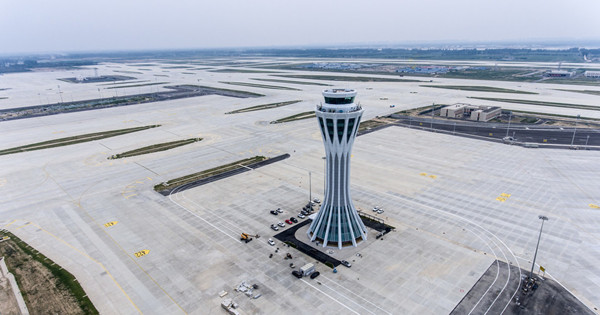 'Eye of Phoenix', air traffic control tower for new Beijing airport