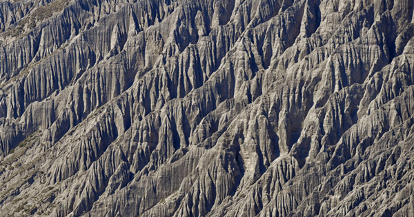 Amazing landscape of Dushanzi Grand Canyon in Xinjiang