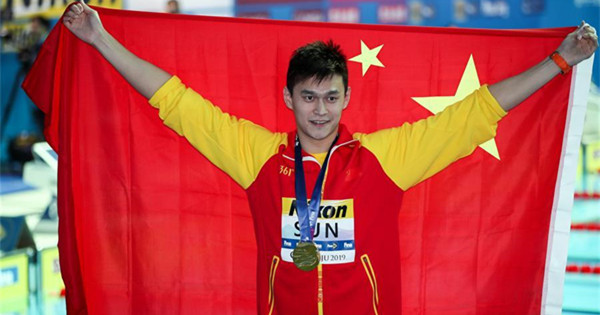 Sun Yang wins fourth consecutive world title in 400m freestyle