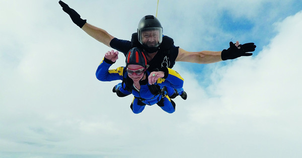 Pensioner flies into record books after becoming Britain's oldest skydiver