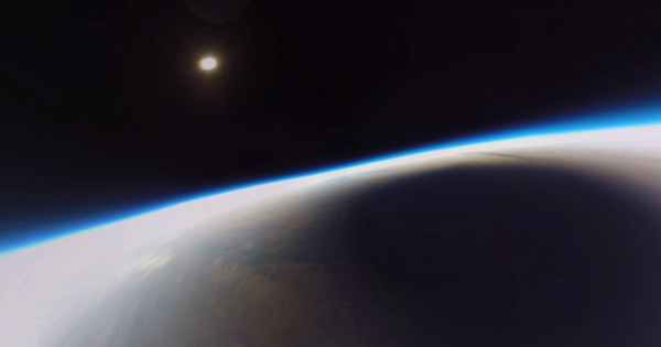Incredible photos show solar eclipse filmed from the edge of space