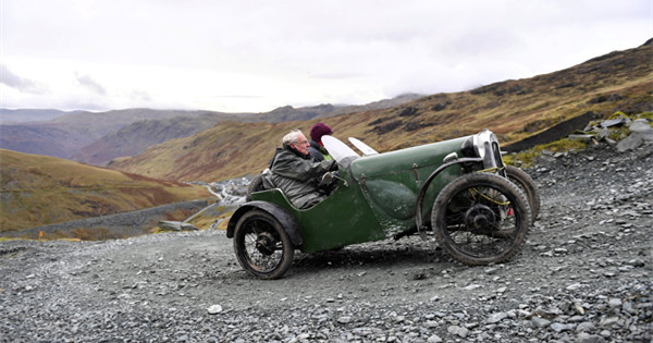 In pics: Vintage car event conquers mountain pass