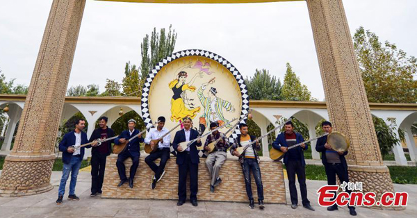 Village known for making Uyghur musical instruments