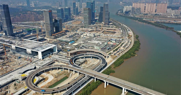 Hengqin Port under construction in China's Guangdong