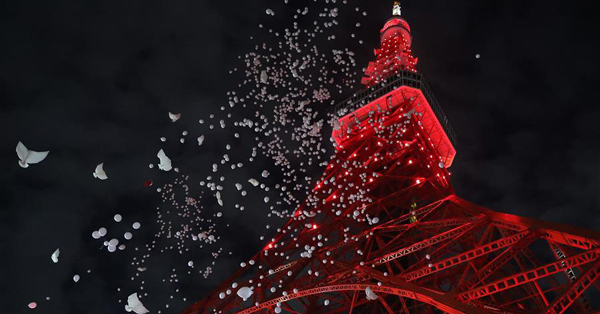 Tokyo Tower lit up in red to celebrate Chinese Lunar New Year