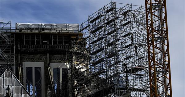 Repair work at Notre Dame resumes as France eases lockdown measures