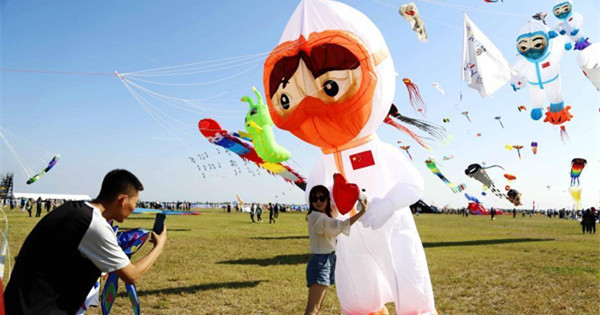 37th Weifang Intl Kite Festival kicks off in E China's Shandong