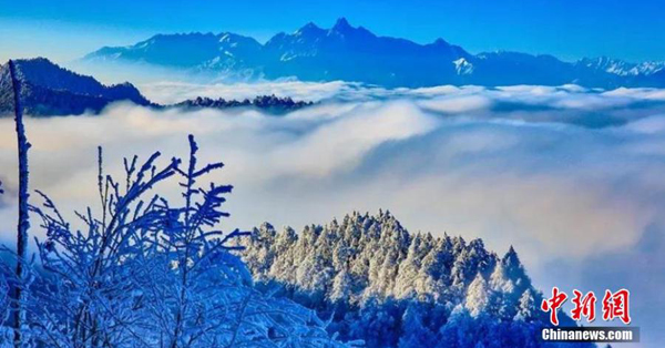 Stunning winter scenery appears with Ya'an's first snow