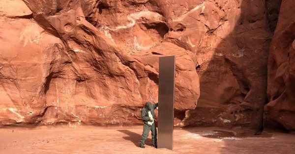 Mysterious monolith discovered in Utah