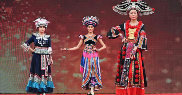 Yao ethnic women promote local customs via costumes