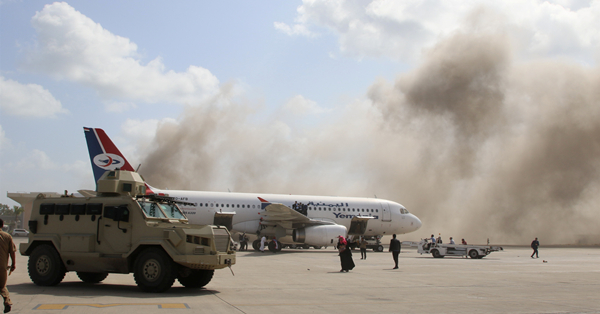 Death toll rises to 22 in Aden's airport explosions in southern Yemen