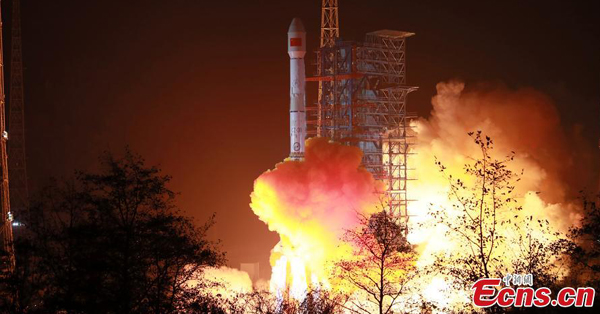 China launches new mobile telecommunication satellite Tiantong 1-03