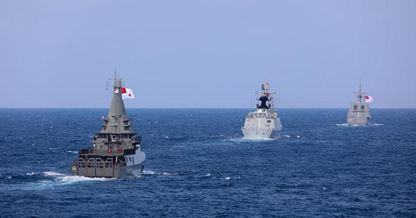 China, Singapore conduct joint drill in waters near Singapore