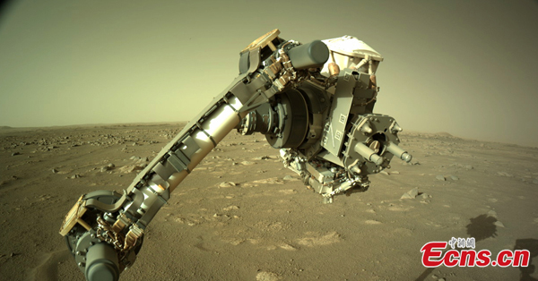 NASA Perseverance rover checks its robotic arm on Mars