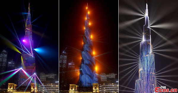 Light show in Dubai