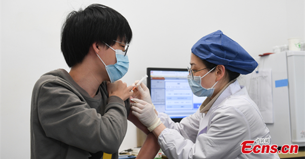 People in Hangzhou receive recombinant subunit vaccine against COVID-19