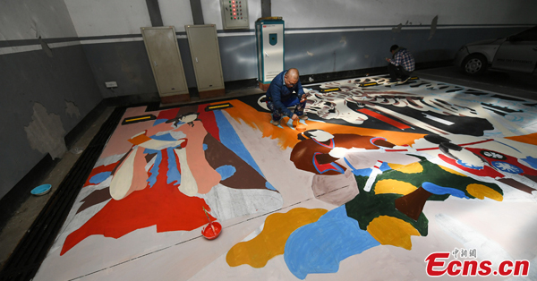Painted parking spots gain popularity in North China's Changchun